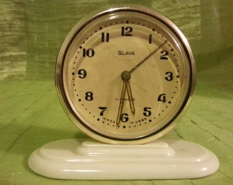 Vintage mechanical clock alarm. USSR