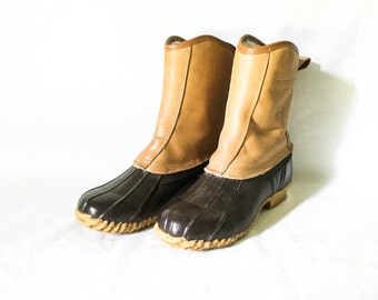 Women's Winter boots - Leather and rubber fleece lined boots - Emerson hunting boots Size 6 - Hunting Boots - Emerson of Maine boots
