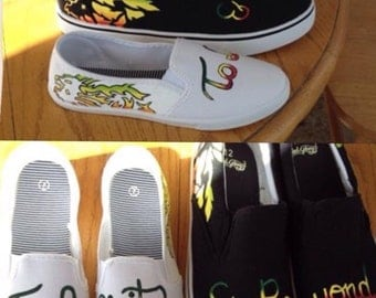 Hand Painted Custom Couples Shoes
