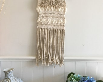 Neutral Wall Hanging Weaving
