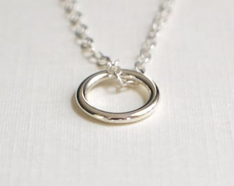 Silver Circle Necklace - Limited Edition - Circle Necklace - Small Charm