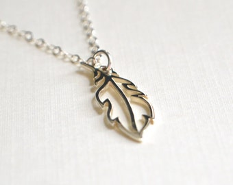 Feather Charm Necklace - Limited Edition - Charm Necklace - Sterling Silver
