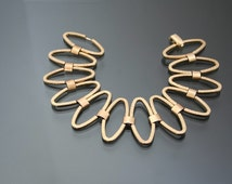 1950's Glamour Panel Geometric Bracelet. FRIEDRICH SPEIDEL. Pforzheim Germany