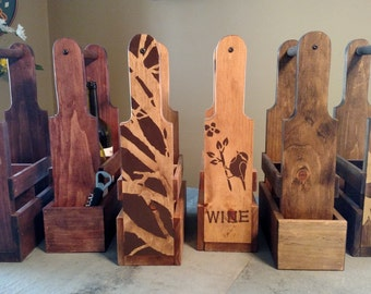 Handcrafted Wine Caddy