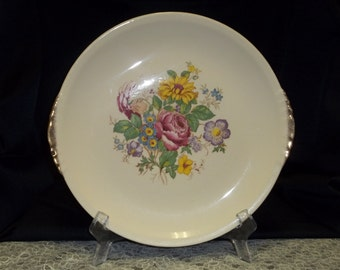 Paden City Pottery Co. Vintage 1930s Collectible Dinner Plate Floral Design Item #3458