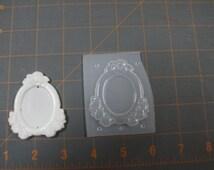 Oval Frame Setting Plastic Mold, Resin Mold, clay mold, plaster mold, cameo mold, setting mold, cameo setting mold,frame mold, rose moldd