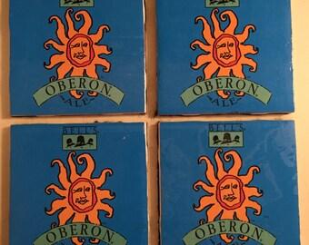 4 Pack Oberon Beer Bells Brewery Coasters