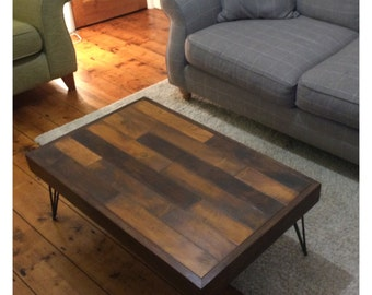 Coffee Table - Made to Order Reclaimed Wood Coffee Table With Hairpin Legs