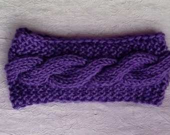 Headband, cable style, free shipping, Purple, turqoise, white, FREE SHIPPING