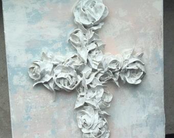 6x6 rose cross