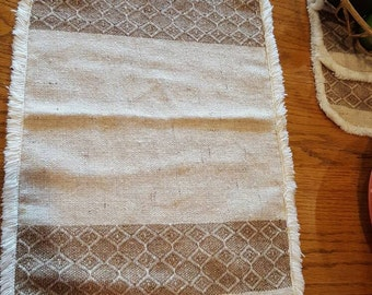 Natural Vintage Placemats- Set of 8