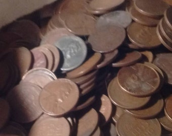 Wheat Penny Lot of Unsearched Wheat Pennies 3 lbs of coins