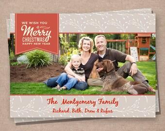 Christmas Photo Card - Christmas Card - Holiday Photo Card - Holiday Card - Printable Christmas Card - Digital Christmas Card