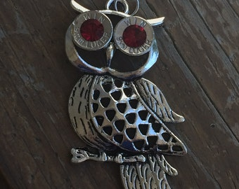 Owl bullet necklace