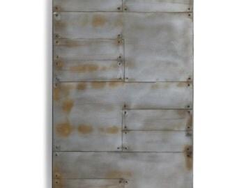 Planked Modern Steel Barn Door