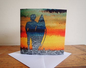 Surfer Plain Greeting Card