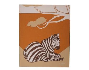 Vintage Zebra Marushka Screen Print FREE SHIPPING!