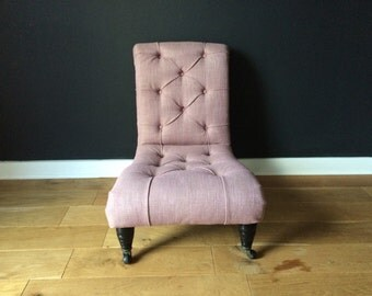Antique reupholstered nursing chair