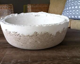 SOLD   Large dual colour concrete pot/bowl