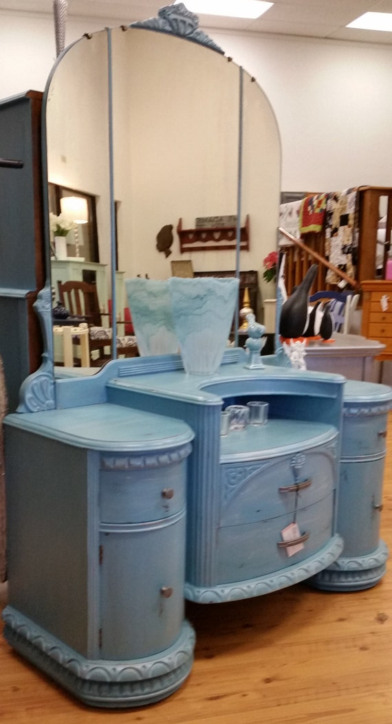 1940s Dressing Table Painted Furniture Custom Painted