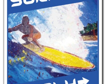 Surfers Only ~Sign~ Parking Surf Board Surfer Wax Gift