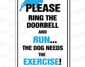pLEASE RING THE DOORBELL Novelty Sign gift private no enter entry entrance buzz