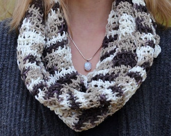 Floppy Multi-colored 100% Cotton Infinity Scarf