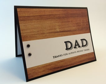 Handmade hand stamped Dad card birthday Father's Day