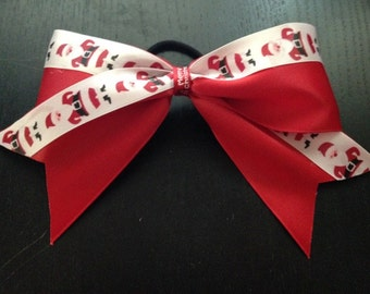 Red Ribbon with Santa Clause bow