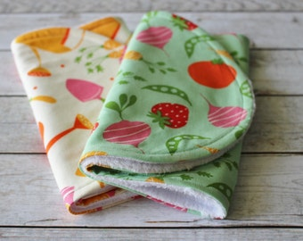 Burp Cloths; Garden Burp Cloths