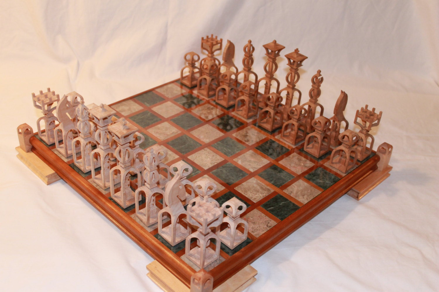 Scroll Saw Pattern: Advanced Chess Set from ClaytonsPatterns on Etsy Studio