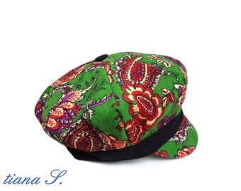 Corduroy hat, Green Black