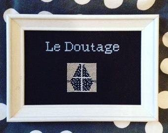 The Doutage frame framed cross stitch cross stitch