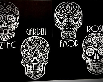 Sugar Skull Decal Set