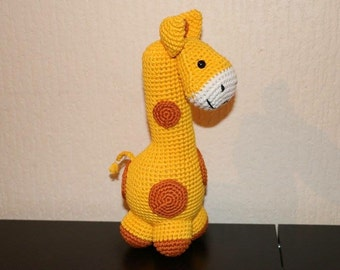 Stuffed, plush, doudou, animal, giraffe
