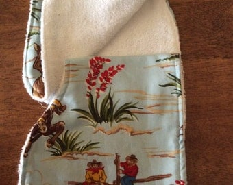 Cowboy burp cloth