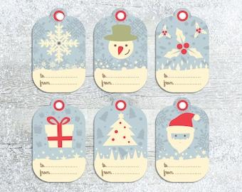 Christmas Tags Printable, Christmas labels, Christmas Gift Tags, Christmas Tags, Gift Label, Holiday Tags, Holiday Labels