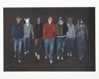 The Pack, Giclée Print from original Oil Painting