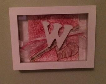 Framed Initial Art
