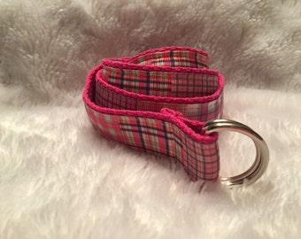 Madras Plaid Belt
