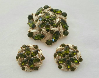 Pin and earrings set