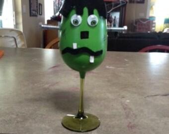 Halloween Frankenstein candle holder