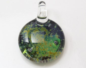 Space Glass Pendant - Boro Necklace
