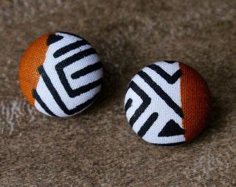 Asante button earrings (small)