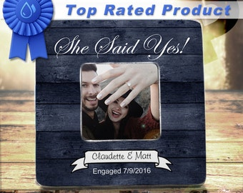 She Said Yes She said Yes Frame engagement frame engagement gift engagement present engaged bride to be gift gift for her future mrs Gift