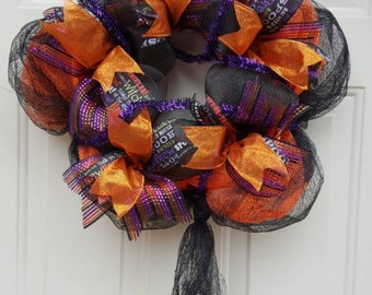 """20"""" Halloween deco mesh wreath"""