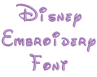 5 Size Disney  Embroidery Font Embroidery Designs, BX fonts Machine Embroidery Designs - 9 File Fomats - INSTANT DOWNLOAD