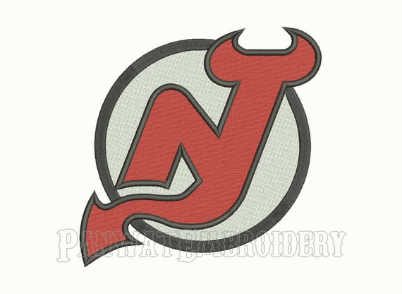 Size new jersey devils logo embroidery designs machine