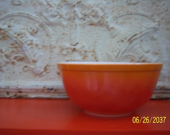 Vintage Pyrex 403 Orange Flameglo Bowl