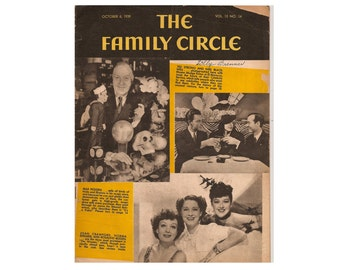 The Family Circle Magazine October 6, 1939 1930's Mid Century Vintage Magazines Vintage Newspapers Vintage Ads Collectible Magazine Ads